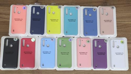 Capa Capinha Case Aveludada Premium Motorola G8 Power Lite Original