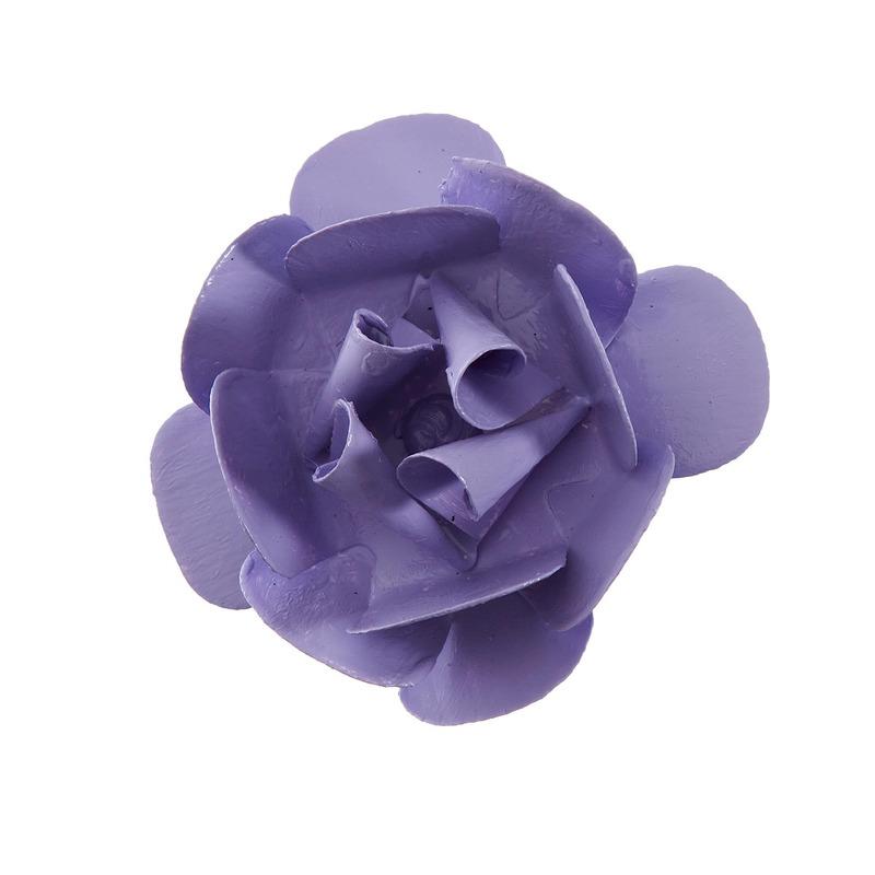 Flor Metal Lilas