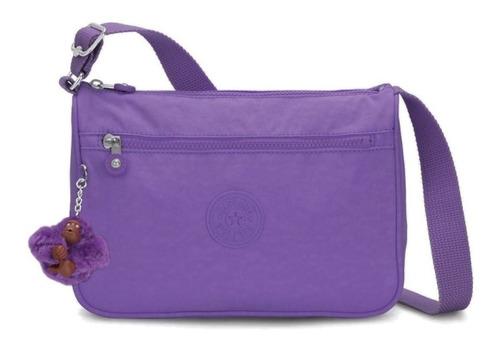 Bolsa Kipling Transversal Callie Tile Purple T Roxa Original