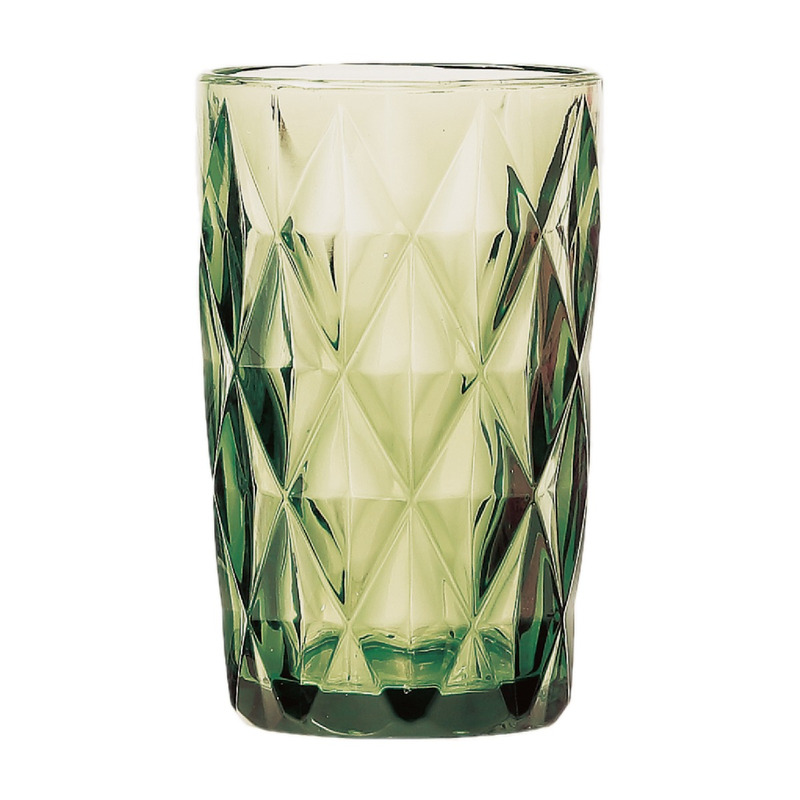 Jogo 6 Copos Altos Diamond de Vidro Verde - Lyor 4106499