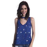 Blusa Long Island Stars Azul