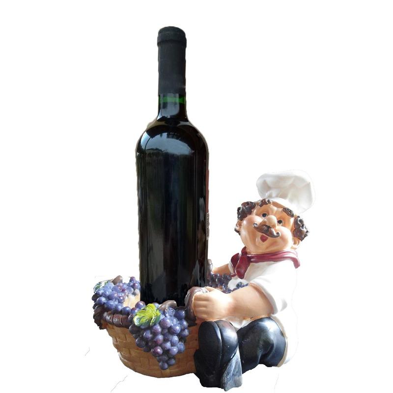 Porta Vinho Coz Cesto de Uva - Souvenir Góes