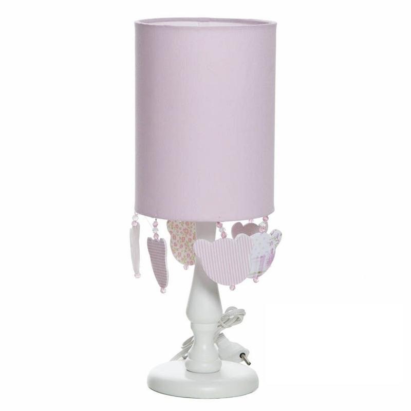 Abajur Cupula Tubular Urso Rosa