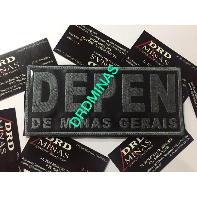 Etiqueta Bordada DEPEN - PENAL  - 9 x 18