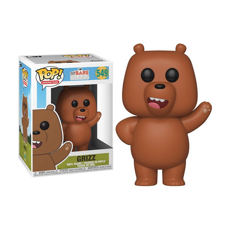 Grizz Pop Funko #549 - We Bare Bears - Animation
