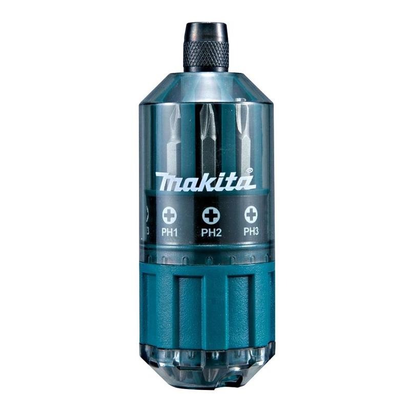 Kit Furadeira e Paraf. à Bateria 10 mm 12V DCD700C2 Bivolt DeWalt + Kit de Bits para Parafusadeira com 18 Peças Makita