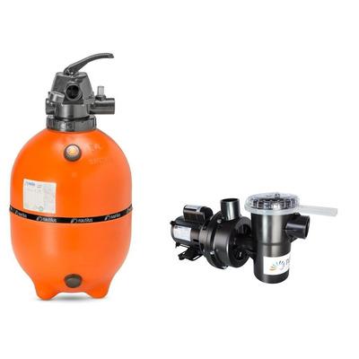 Kit moto bomba nbf 2 e filtro f450p nautilus para piscinas for Bombas autoaspirantes para piscinas