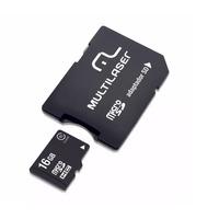Cartão de memória 16GB com Adaptador para SD Multilaser - MC110