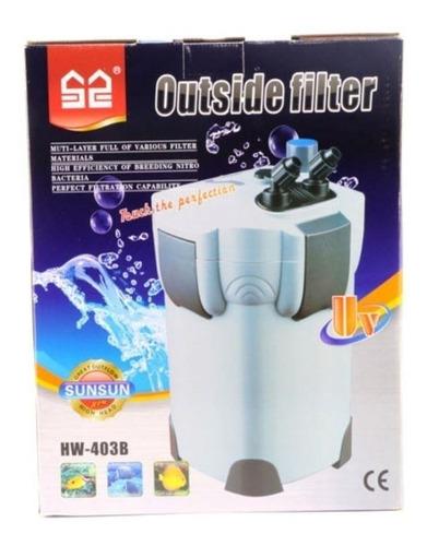 Filtro P/ Aquário Canister Sunsun Hw-403b Uv De 9w 1400l h Original