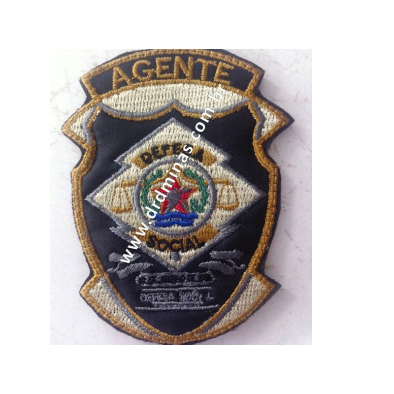 Patch / Distintivo Bordado Agente I
