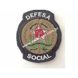 Patch / Distintivo Bordado Defesa Social