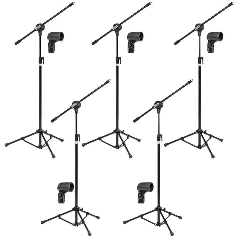 Kit Com 05 Pedestais Para Microfone E Cachimbos