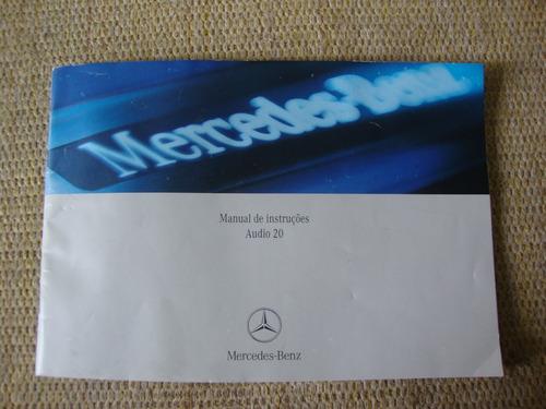 Manual De Instruções Central Multimídia Audio 20 Mercedes. Original
