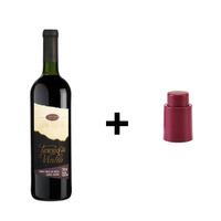 Kit Vinho Tinto Tradicional 720ml + Tampa Conservadora - Adega Terra do Vinho