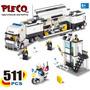 Caminhão Delegacia Polícia Base Móvel Moto Compatível Lego