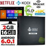 Tv Box Quad Android 6.0 Google Netflix (TVB906X Ou MXQ4K)