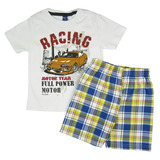 Conjunto Camiseta e Bermuda Xadrez TMX Kids&Teens