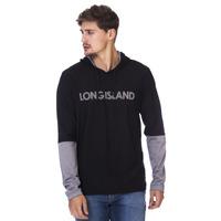 Camiseta Manga Longa Long Island Preta