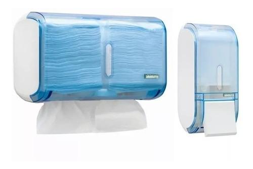Conjunto Dispenser Papel Interfolha + Saboneteira Liquido ++ Original