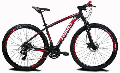 Bicicleta Rino Aro 29 Disco 21v Suspensao + Led Original