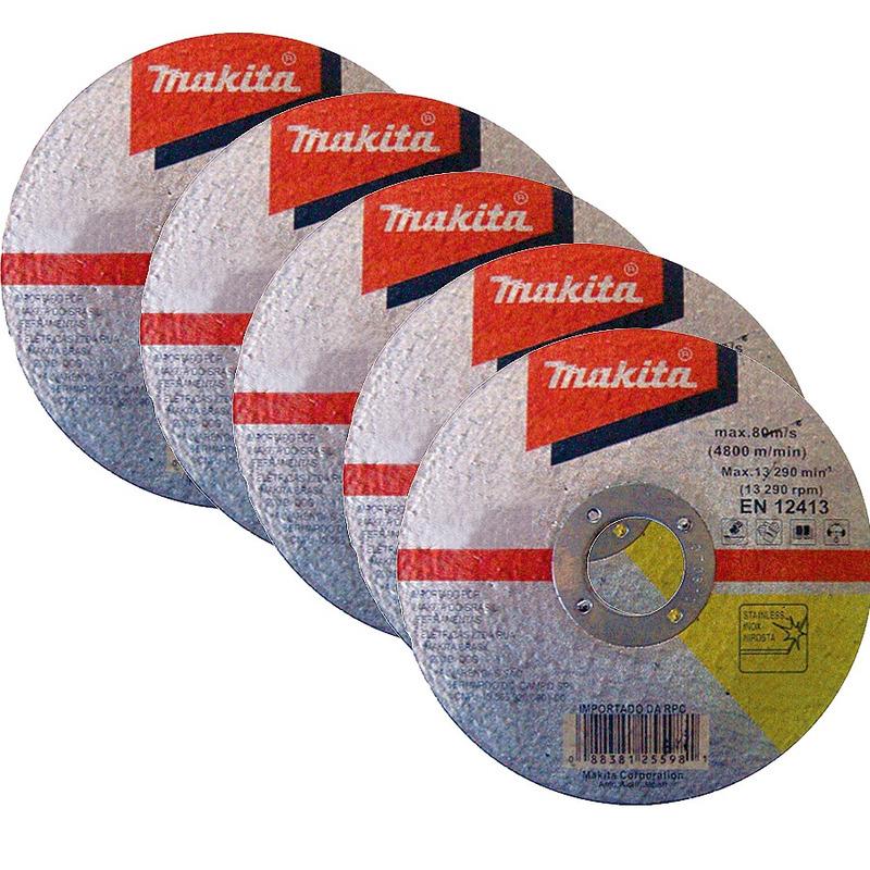 """Kit com 30 Disco de Corte para Inox 7"""" - Makita - D-20024"""