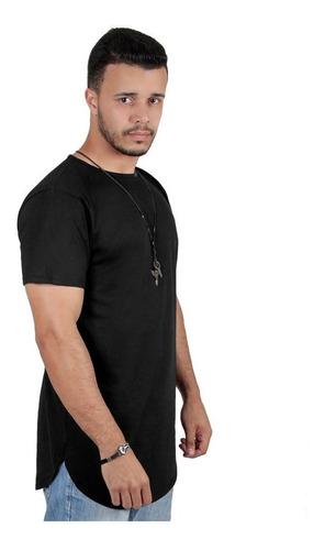 Kit C/3 Un Camisas Blusas Masculinas Long Line Oversize Swag Original