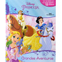 Livro Com 12 Miniaturas Princesas Grandes Aventuras
