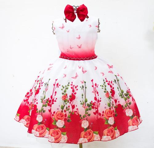 Vestido Infantil Floral Juvenil 4 Ao 16 Moda Evangélica Original