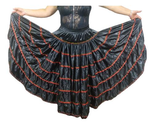 Saia Longa Estilo Cigana Para Dança Original