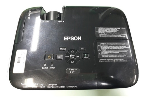 Projetor Epson Powerlite S8+ 2500 Lúmens - Com Defeito Original