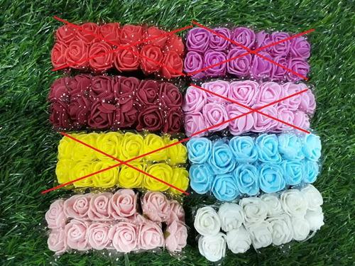 Mini Flores Rosinhas Artificiais Em Eva Pacote C/144 Unidade