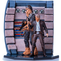 Han Solo and Chewbacca - Star Wars - Exclusivo Ccxp17 - Iron Studios