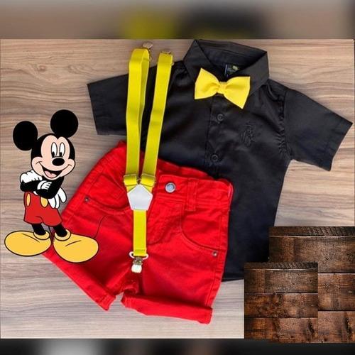 Roupa Menino Infantil Mickey Festa Aniversário Original