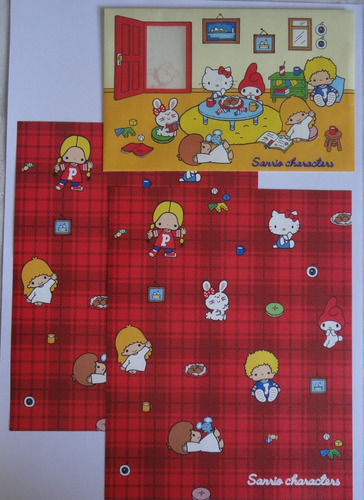 Conjunto Papel De Carta Sanrio Characters Importado Lote 170
