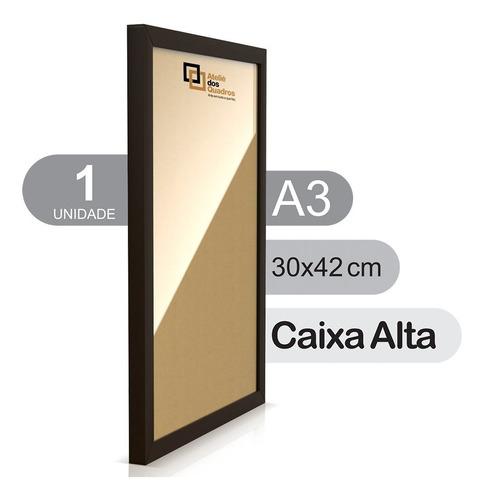 Moldura A3 30x42 Quadro C Vidro Poster Caixa Alta Fotografia Original