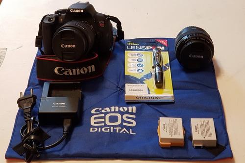 Câmera Canon T5i Ds126431+lente 18-55mm+lente 55mm + Extras Original
