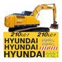 Kit Adesivo Escavadeira Hyundai 210 Lc 7 210lc 7 Completo Mk