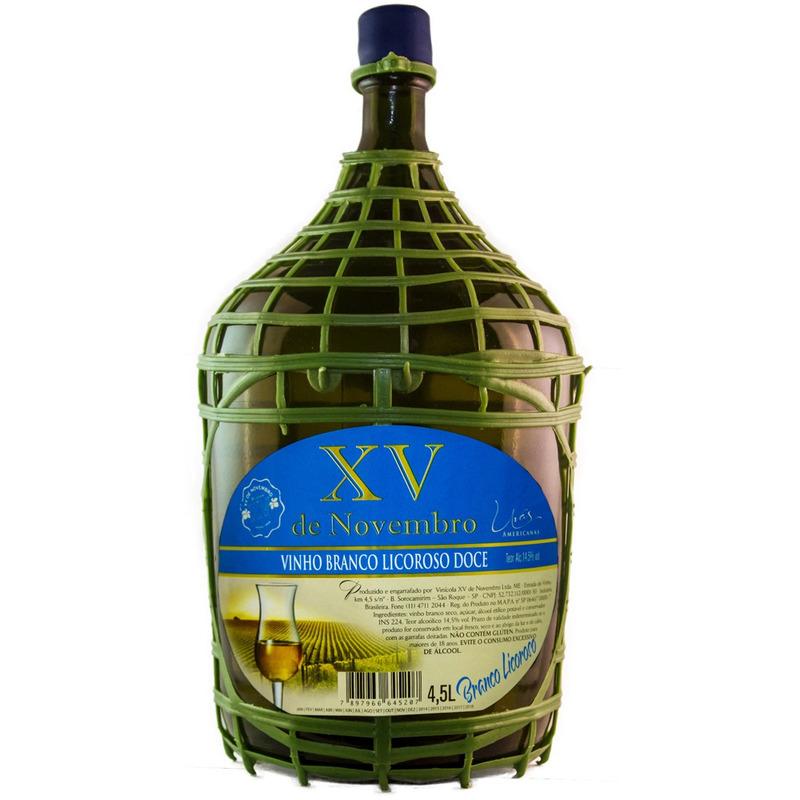 Vinho Branco Licoroso Doce Niagara 4,5 L - XV de Novembro