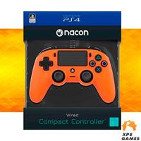 Controle Com Fio Compacto Nacon Laranja - PS4