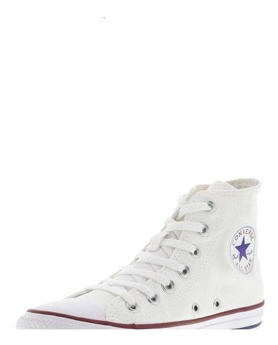 Tênis All Star Converse Cano Alto Ct00040001 Branco Branco Original