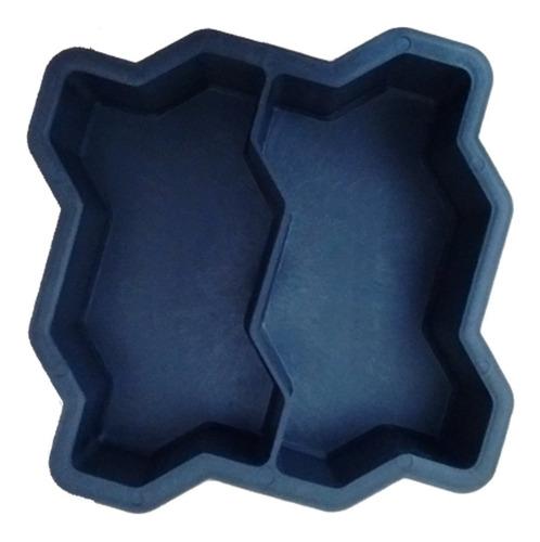 Forma Plástica Dupla Intertravada Para Bloquete De Cimento Original