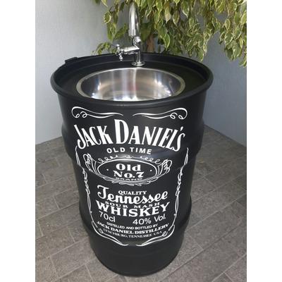 Tonel Tambor Pia Lavabo Bebida Preto 100 Litros Jack 80x50 em São Marcos
