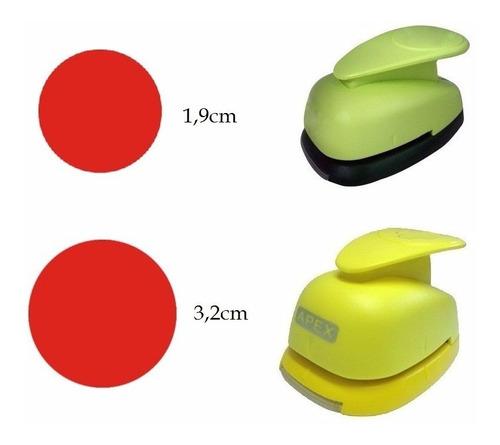 Kit Furadores Scrapbook Circulo 3,2cm + Circulo 2,2cm Original