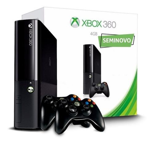 Xbox 360 Slim + 2 Controles + Jogo Original