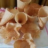 Casquinhas  artesanais sem glúten para sorverte - embalagem com 6 casquinhas / sem contaminação cruzada - segura para  celíacos e alérgicos.