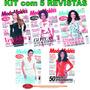 Kit 5 Revistas Moda Moldes Roupa Corte E Costura Novas