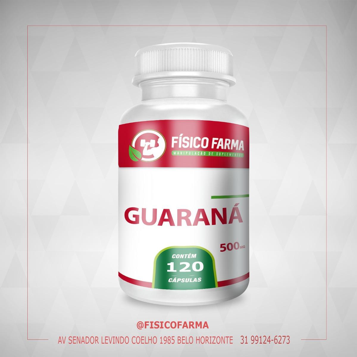 Guaraná 500mg 120 cápsulas (guarana)