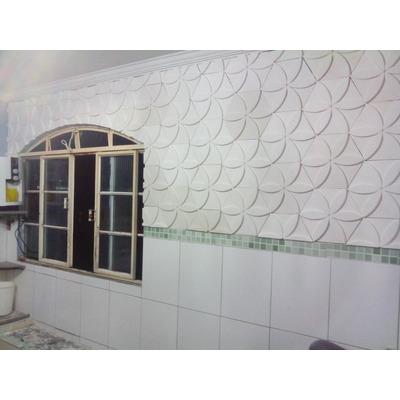 Placa decorativa de gesso flor 3d revestimento de gesso for Placas decorativas paredes interiores