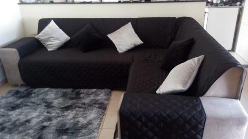 Protetor De Sofa De Canto Em L