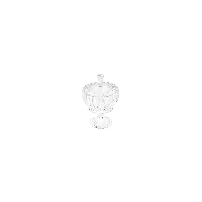 Bomboniere De Cristal com Pe E Tampa Geneva 16,5X24,5Cm 31025531